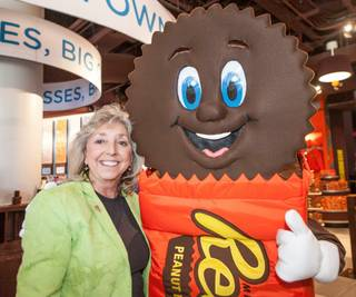 Hershey's Chocolate World opens at New York-New York on Tuesday, June 3, 2014, in Las Vegas. Congresswoman Dina Titus is pictured here.