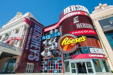 Hershey's Chocolate World opens at New York-New York on Tuesday, June 3, 2014, in Las Vegas.