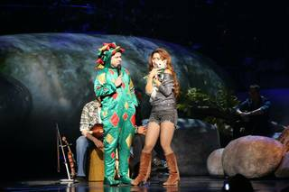 Shania Twain, Piff the Magic Dragon and Mr. Piffles at the Colosseum on Tuesday, June 3, 2014, in Caesars Palace.