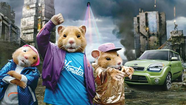 "Kia's music-loving hamsters shuffle to LMFAO's smash hit ""Party Rock Anthem"" in new advertising campaign for the refreshed 2012 Soul urban passenger vehicle."