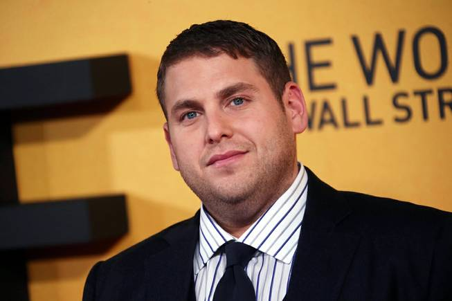 "This Jan. 9, 2014, photo shows actor Jonah Hill at the U.K. premiere of ""The Wolf of Wall Street"" at a Leicester Square cinema in London, England."