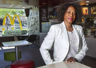 Franchise owner Sharon Lipscomb poses at her McDonald's restaurant, 65 S Valle Verde Dr., in Henderson Thursday, June 5, 2014. Lipscomb owns five McDonald's.