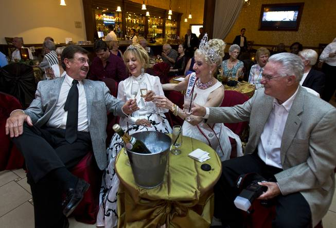 "Attendees enjoy some champagne during a night at the Viva Las Vegas Event Center as ""Big Band is Back with Kat Ray"" performs at the new, vintage Vegas-style venue on Friday, June 6, 2014."