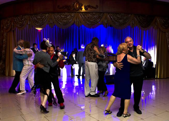 "Dancers enjoy music by ""Big Band is Back with Kat Ray"" at the new Viva Las Vegas Event Center which is a vintage, Vegas-style venue on Friday, June 6, 2014."