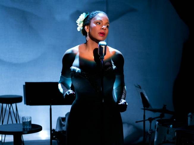 "Audra McDonald as Billie Holiday in ""Lady Day at Emerson's Bar & Grill."" McDonald won her sixth Tony at the 68th Tony Awards on Sunday, June 8, 2014, for that portrayal, putting her ahead of five-time winners Angela Lansbury and the late Julie Harris for the most wins by an actress."