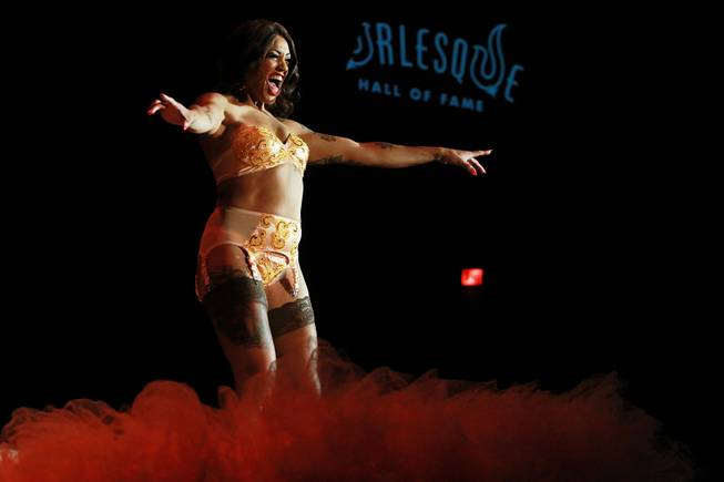 Sydni Deveraux during the 2014 Burlesque Hall of Fame's Tournament of Tease competition Saturday, June 7, 2014 at the Orleans.