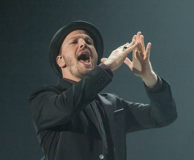 Billy Joel at MGM Grand Garden Arena on Saturday, June 7, 2014, in Las Vegas. Gavin DeGraw, pictured here, was the opening act.