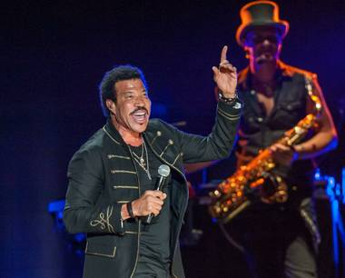 Lionel Richie performs at Mandalay Bay Events Center on Friday, June 6, 2014, in Las Vegas.