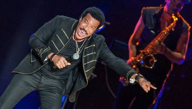 Lionel Richie and CeeLo Green at Mandalay Bay Events Center on Friday, June 6, 2014, in Las Vegas.