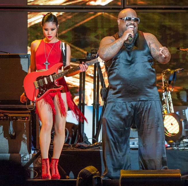 Lionel Richie and CeeLo Green, pictured here, at Mandalay Bay Events Center on Friday, June 6, 2014, in Las Vegas.