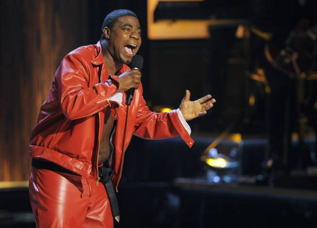 "In this Nov. 3, 2012, file photo, comedian Tracy Morgan performs at ""Eddie Murphy: One Night Only,"" a celebration of Murphy's career, at the Saban Theater in Beverly Hills, Calif."
