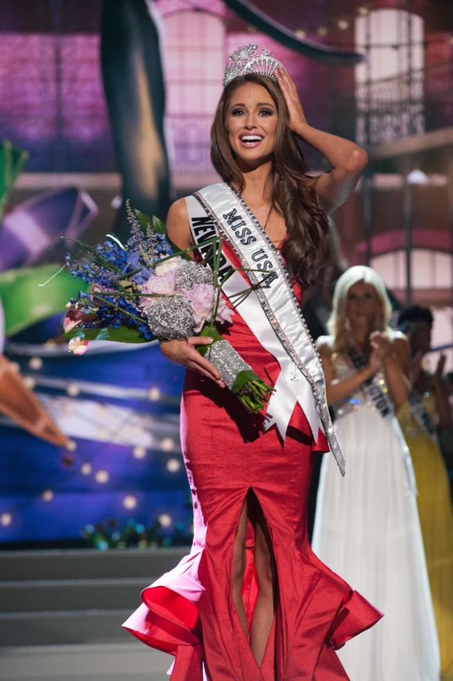 2014 Miss Nevada USA Nia Sanchez is crowned 2014 Miss USA at the 2014 Miss USA Pageant at Baton Rouge River Center on Sunday, June 8, 2014, in Baton Rouge, La.