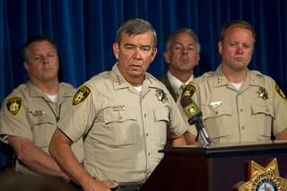 Sheriff Doug Gillespie speaks during a news conference at Metro Police headquarters Wednesday, June 11, 2014. Police provided new details on Sunday's shooting that resulted in five deaths including two police officers and a civilian.