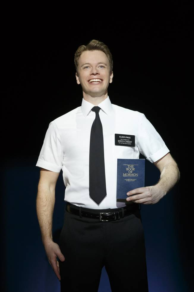 "David Larsen in the second national tour of the nine-time Tony Award-winning ""The Book of Mormon"" now at the Smith Center for the Performing Arts through July 6, 2014."