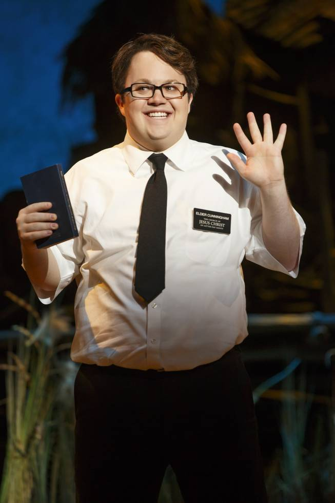 "Cody Jamison Strand in the second national tour of the nine-time Tony Award-winning ""The Book of Mormon"" now at the Smith Center for the Performing Arts through July 6, 2014."