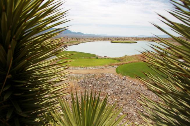 This is a view of the 15th hole on the Wolf Course at the Las Vegas Paiute Golf Resort May 22, 2014.