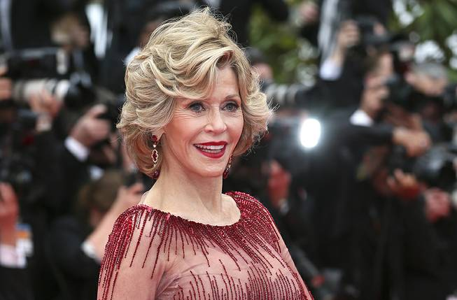 "Jane Fonda arrives at the opening ceremony and screening of ""Grace of Monaco"" at the 67th Cannes Film Festival on Wednesday, May 14, 2014, in France."