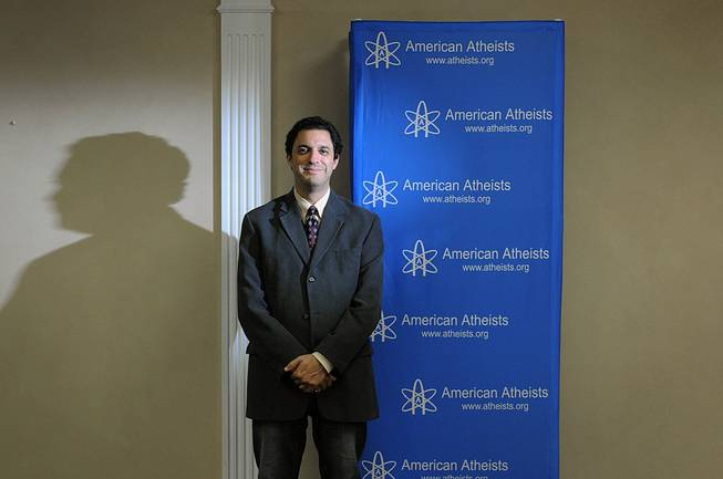 "David Silverman is the president of the American Atheists organization. The group has a weekly television show called ""Atheists Viewpoint."" He is shown before a taping of the show June 5, 2014, in Cranford, N.Y."