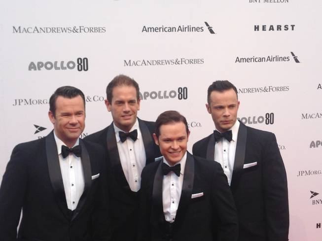 Venetian headliners Human Nature arrive at the 80th Apollo Spring Gala at Apollo Theater in New York on Tuesday, June 10, 2014.