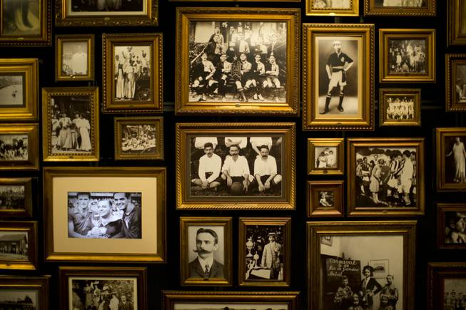 A photo of Charles Miller seated with two other players, center with a large mustache, hangs with other pictures of him in the Hall of Origins at the Soccer Museum in Sao Paulo, Brazil. Miller knew the largest megacity in the southern hemisphere when it was a more unassuming place and many residents were immigrants from Italy. He's hailed as the forefather of Brazilian football because he is widely credited as having organized the first proper game of football according to rules first drawn up in a London.