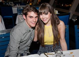 R.J. Mitte and Claire Sinclair at the Stratosphere on Monday, June 16, 2014, in Las Vegas.