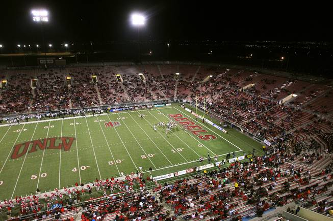 UNLV takes on Utah State on Saturday, Nov. 9, 2013, at Sam Boyd Stadium. The university is working to enhance the game-day experience.