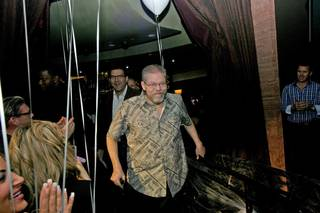 Jerry Jones arrives at a surprise benefit show at Lounge at the Palms on Wednesday, June 18, 2014, to help raise money for his medical bills.