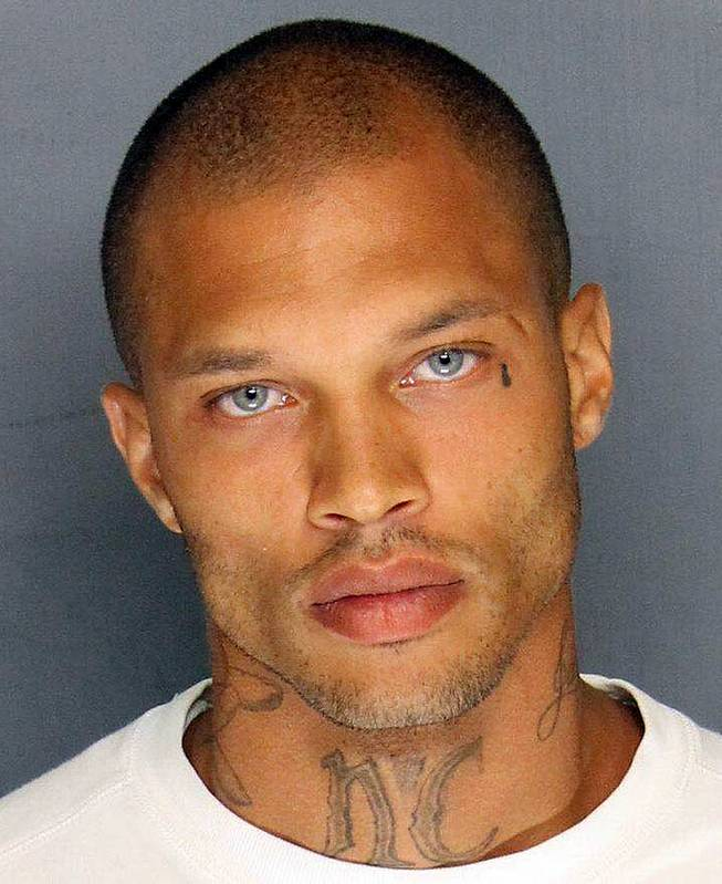 In this Wednesday, June 18, 2014, booking photo released by the Stockton Police Department is Jeremy Meeks. Meeks, 30, was one of four men arrested Wednesday in raids in Stockton, Calif.. On Thursday, his mugshot had more than 20,000 likes, nearly 6,000 comments, and had been shared more than 1,400 times on Facebook.