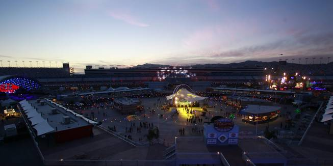 A view of the Las Vegas Motor Speedway during the first night of the Electric Daisy Carnival Friday, June 20, 2014.