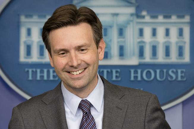Principal Deputy White House press secretary Josh Earnest speaks to the media during his last briefing before taking over as press secretary, Friday, June 20, 2014, in the Brady Press Briefing Room of the White House in Washington.