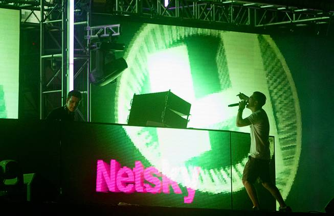 Netsky performs during the final night of the 2014 Electric Daisy Carnival on Sunday, June 22, 2014, at Las Vegas Motor Speedway.