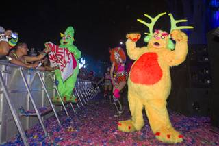 Performers are shown during the final night of the 2014 Electric Daisy Carnival (EDC) at the Las Vegas Motor Speedway Sunday, June 22, 2014.