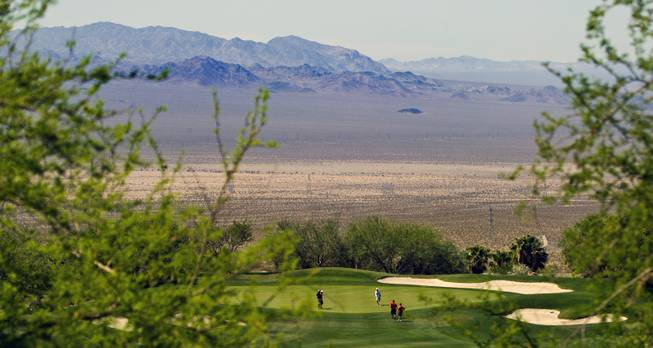 Golfers on the scenic course as HELP of Southern Nevada hosts its 20th Annual Golfers Roundup at Cascata Golf Course in Boulder City on Tuesday, June 24, 2014.