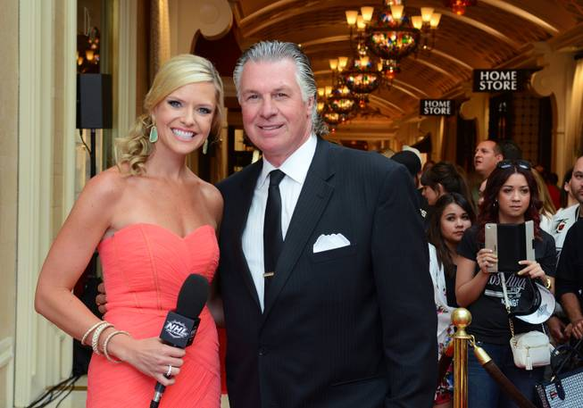 Kathryn Tappen and Barry Melrose host the red carpet at the 2014 NHL Awards in Encore Theater on Tuesday, June 24, 2014, at Wynn Las Vegas.