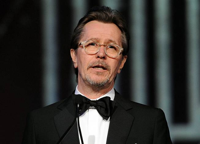 Actor Gary Oldman speaks at the Palm Springs International Film Festival Awards at the Palm Springs Convention Center on Jan. 4, 2014, in Palm Springs, Calif.