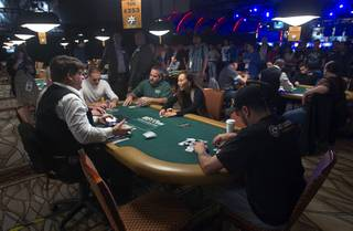 Poker players compete in the $50,000 World Series of Poker's Players' Championship on Wednesday, June 25, 2014, at the Rio. The Final Table begins Thursday.
