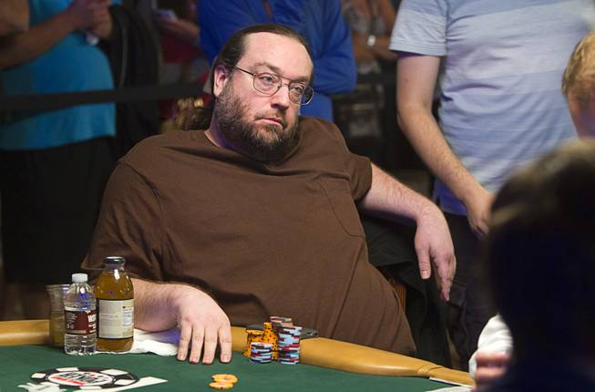 Todd Brunson, son of poker legend Doyle Brunson, competes in the $50,000 World Series of Poker's Players' Championship at the Rio Wednesday, June 25, 2014.