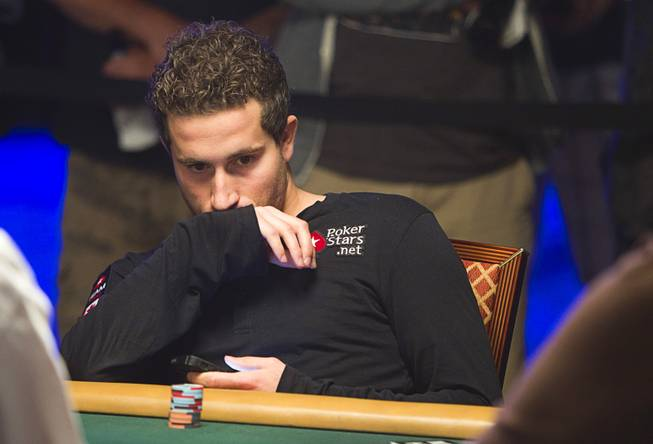 Canadian Jonathan Duhamel, main event winner in 2010, competes in the $50,000 World Series of Poker's Players' Championship at the Rio Wednesday, June 25, 2014.