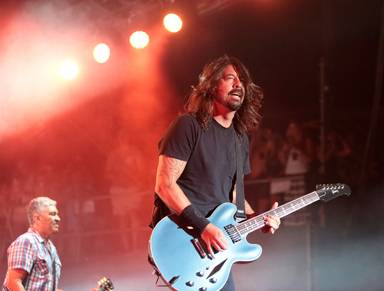 Dave Grohl of the band The Foo Fighters performs on Day 2 of the 2014 Firefly Music Festival at The Woodlands on Friday, June 20, 2014, in Dover, Del.