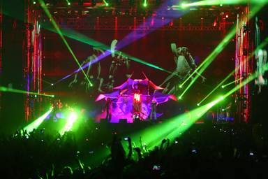Skrillex and Damian Marley perform at the 2014 Coachella Music and Arts Festival on Saturday, April 19, 2014, in Indio, Calif.