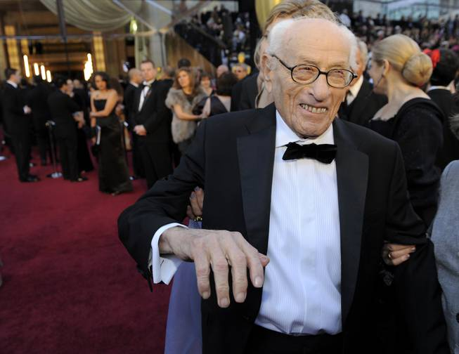 This Feb. 27, 2011, file photo shows actor Eli Wallach at the 83rd Academy Awards in the Hollywood section of Los Angeles.