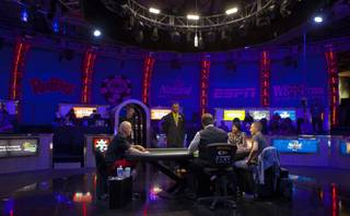 WSOP play continues down to three players during the Poker Players Championship final table of professional poker players facing off for a $50,000 buy-in at the Rio on Thursday, June 26, 2014.