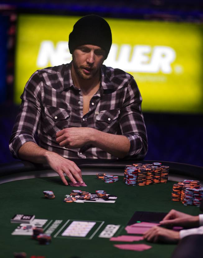 WSOP player Brandon Shack-Harris considers his play during the Poker Players Championship final table of professional poker players at the Rio on Thursday, June 26, 2014.