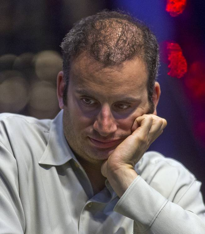 WSOP player Abe Mosseri is next to be eliminated during the Poker Players Championship final table of professional poker players facing off for a $50,000 buy-in at the Rio on Thursday, June 26, 2014.