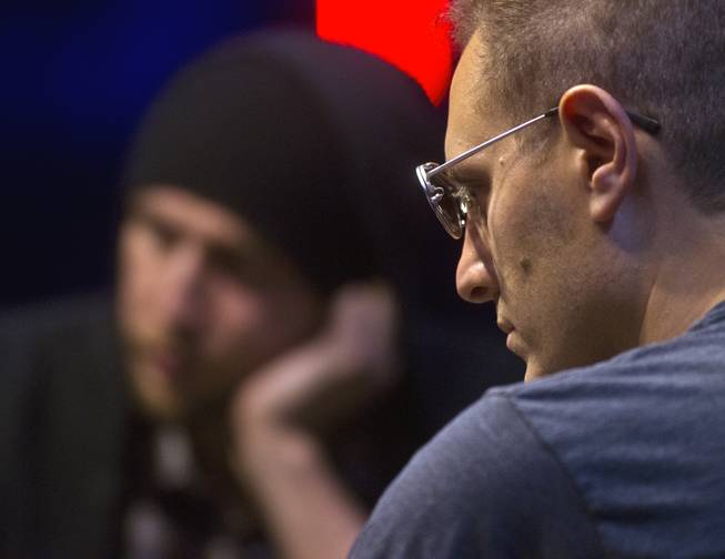 WSOP player Jesse Martin focuses on the action about the table during the Poker Players Championship final table of professional poker players at the Rio on Thursday, June 26, 2014.
