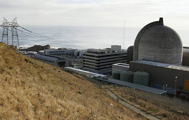 One of the Diablo Canyon Power Plant's nuclear reactors is shown in Avila Beach on California's central coast, Nov. 3, 2008.