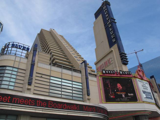 This Oct. 26, 2011, photo shows the Showboat Casino Hotel and its House of Blues nightclub in Atlantic City, N.J.