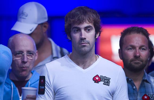 Jason Mercier waits for the start of the Big One for One Drop, a $1,000,000 buy-in No-Limit Hold'em charity poker tournament, at the Rio Sunday, June 26, 2014. The $1 million buy-in is the largest ever for a poker event. Proceeds support One Drop projects in countries experiencing serious difficulties caused by inadequate access to water.