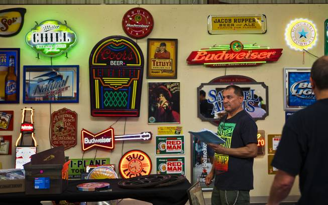 Some of the nearly 600 featured items up for bid during a one-day live auction hosted by Victorian Casino Antiques in cooperation with McManus Auctions on Saturday, June 28, 2014.