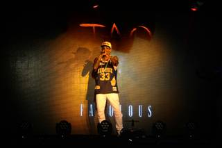 Fabolous hosts and performs at Tao on Saturday, June 28, 2014, in the Venetian.